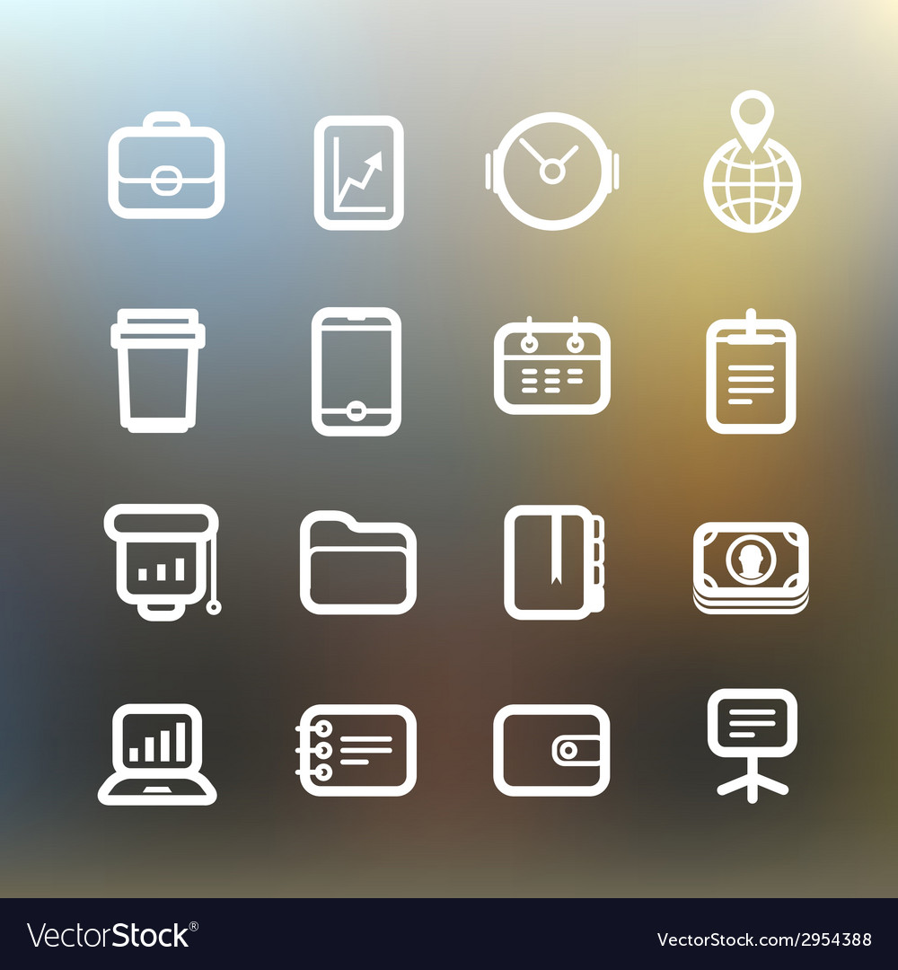 White web interface icons clip-art vector | Price: 1 Credit (USD $1)