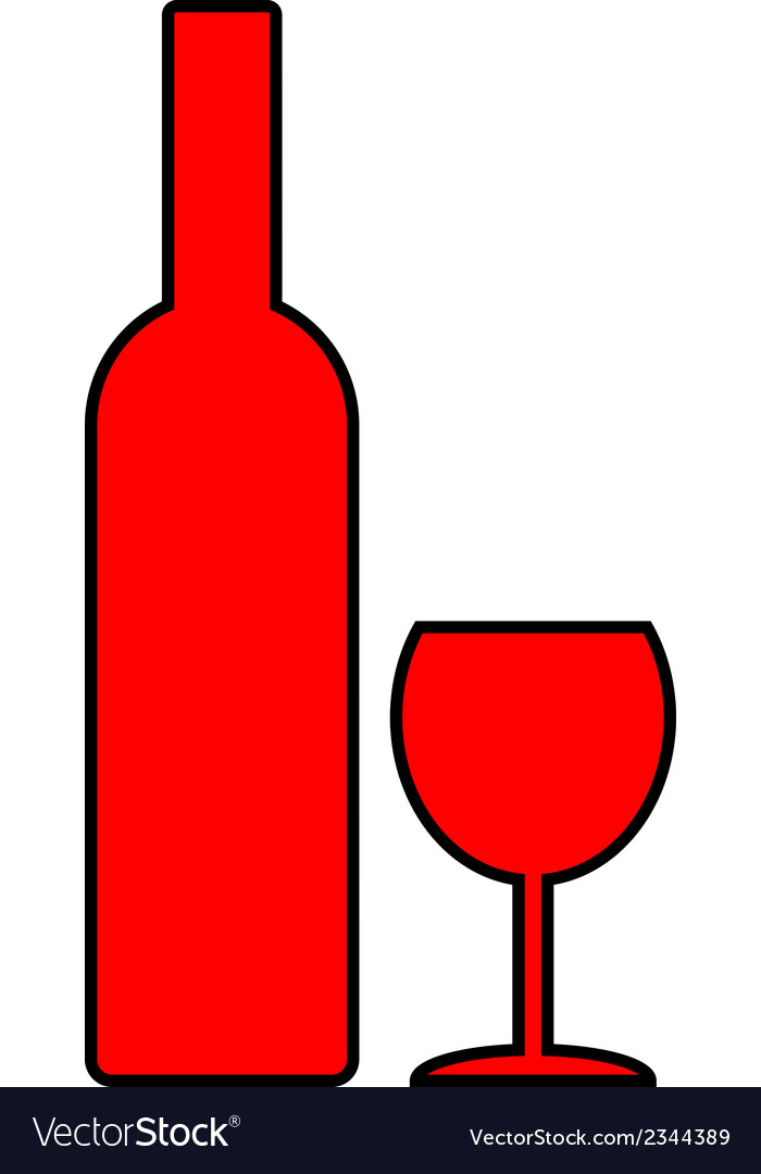 Bottle and glasse vector | Price: 1 Credit (USD $1)
