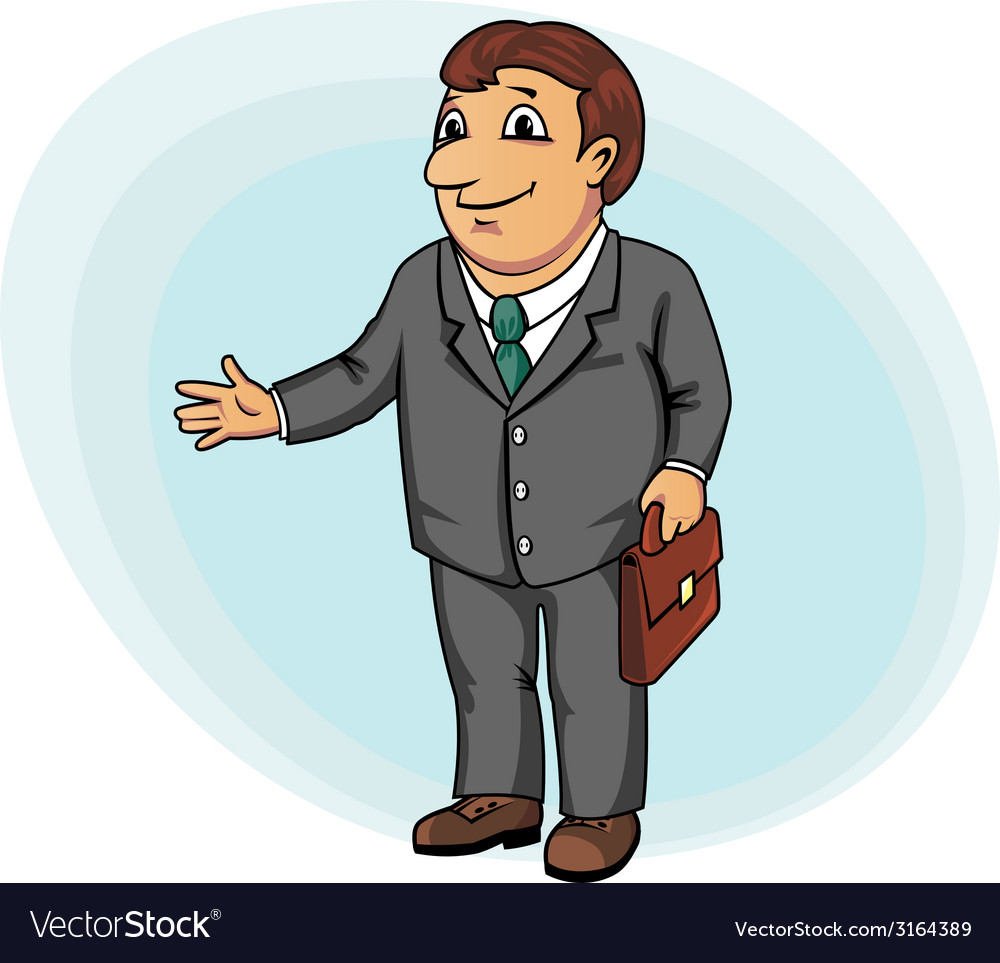 Businessman with briefcase vector | Price: 1 Credit (USD $1)