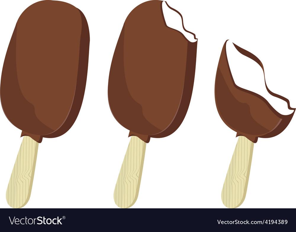 Chocolate ice cream set vector | Price: 1 Credit (USD $1)