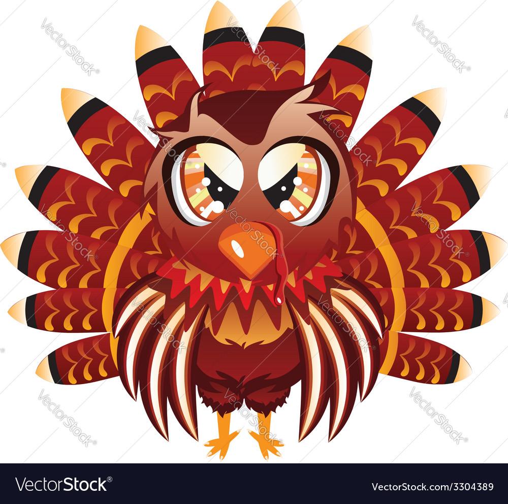 Cute turkey bird vector | Price: 1 Credit (USD $1)