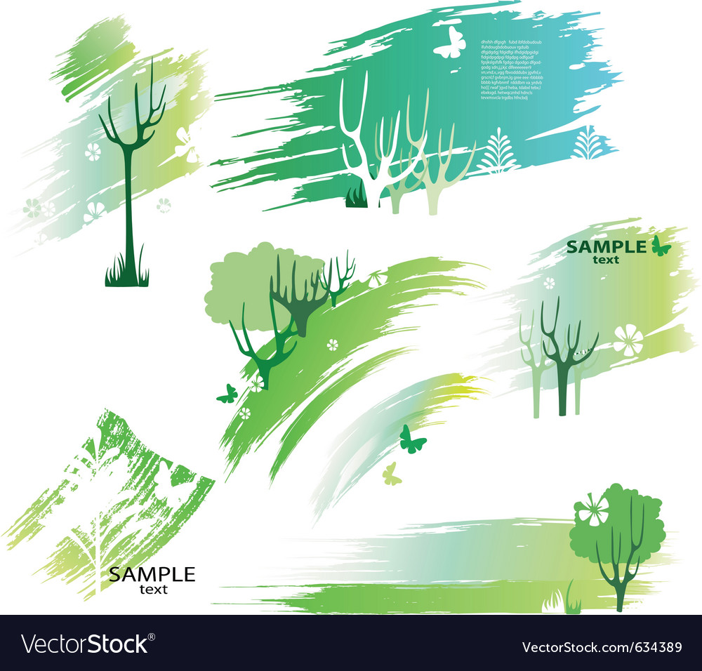Green design elements vector | Price: 1 Credit (USD $1)