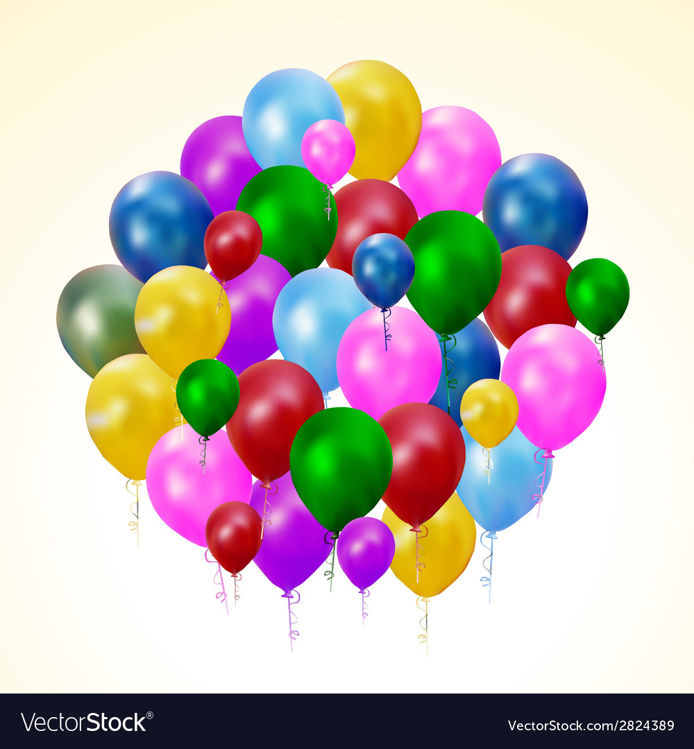 Multicolored balloons vector | Price: 1 Credit (USD $1)