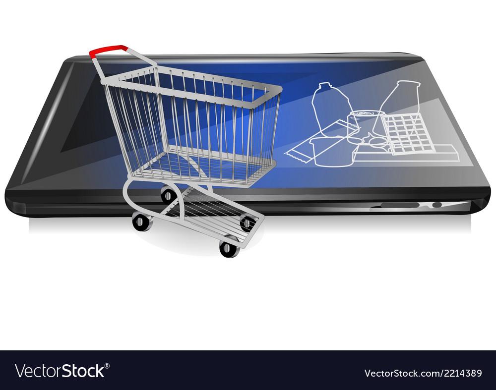 Retail on line vector | Price: 1 Credit (USD $1)