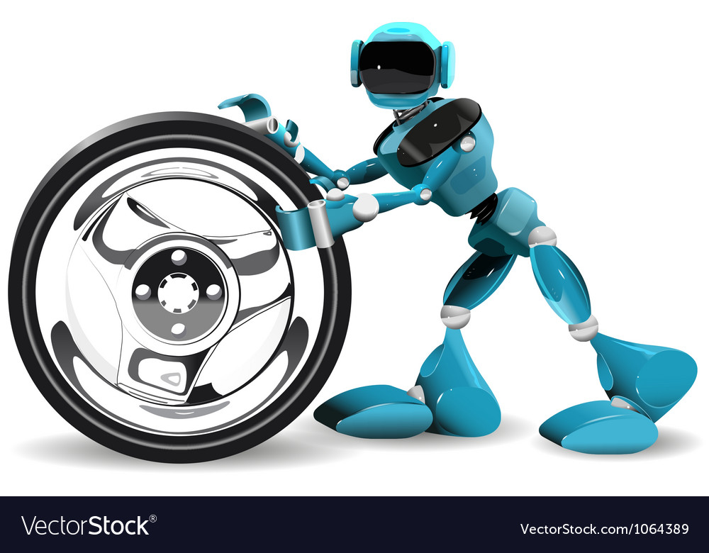 Robot and wheel vector | Price: 3 Credit (USD $3)