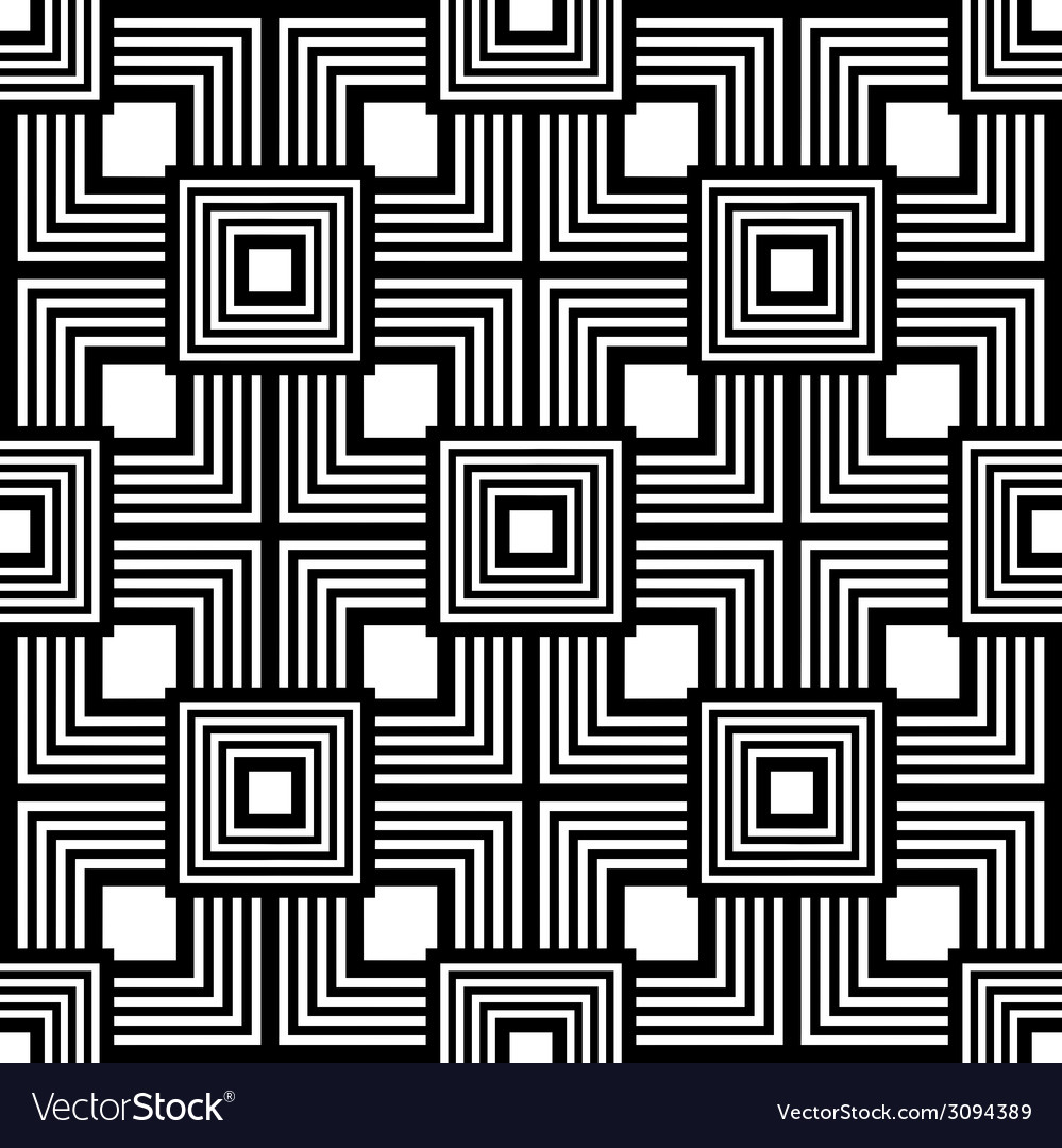 Seamless black and white pattern simple stripes vector | Price: 1 Credit (USD $1)