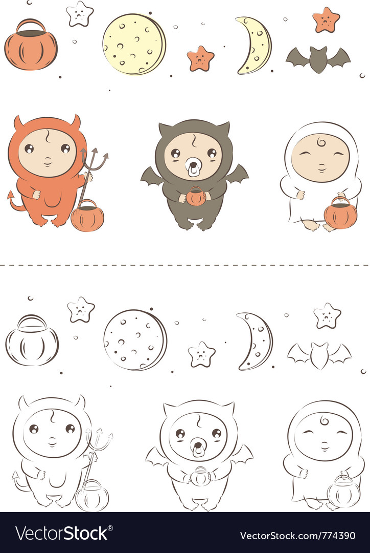 Baby halloween vector | Price: 3 Credit (USD $3)
