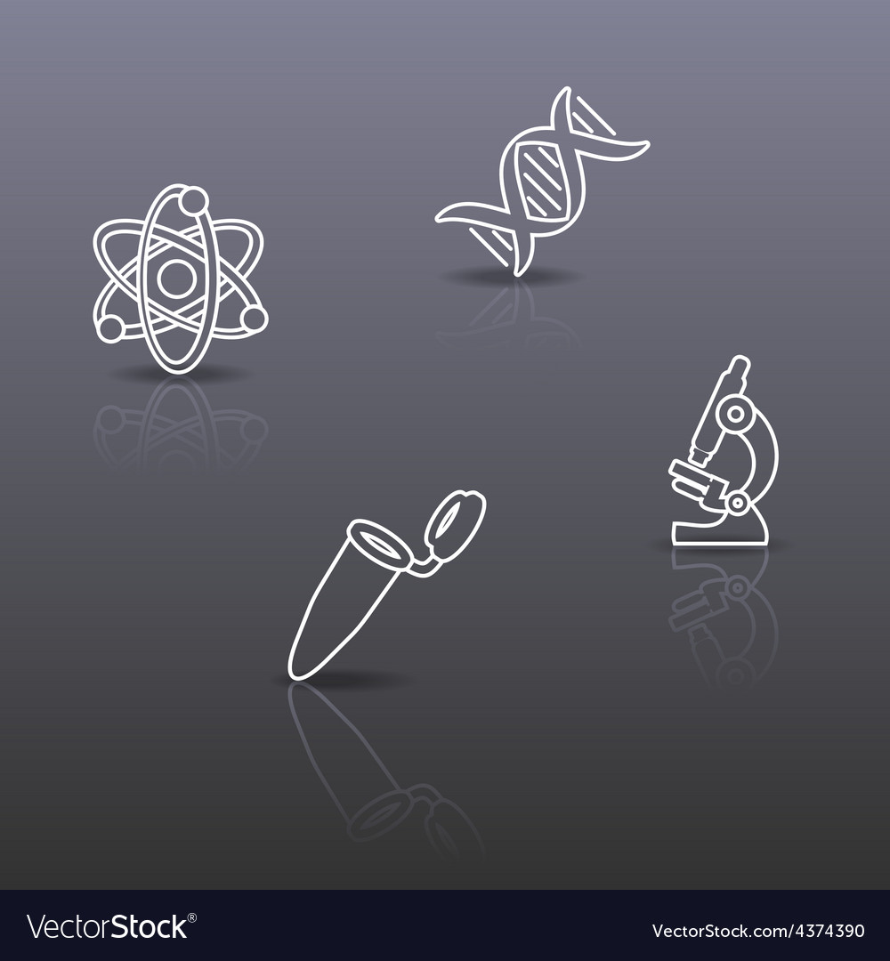 Biology science background vector | Price: 1 Credit (USD $1)