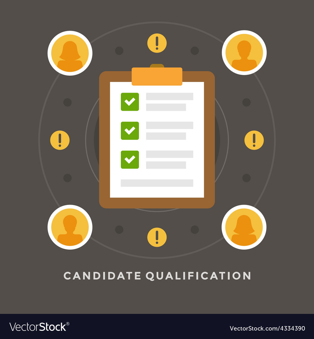 Flat design business concept candidate quali vector | Price: 1 Credit (USD $1)