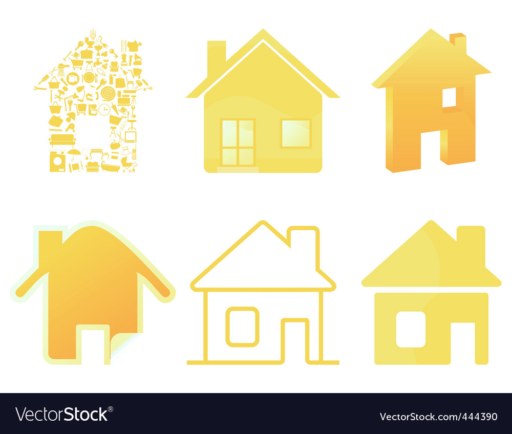 House icon4 vector | Price: 1 Credit (USD $1)