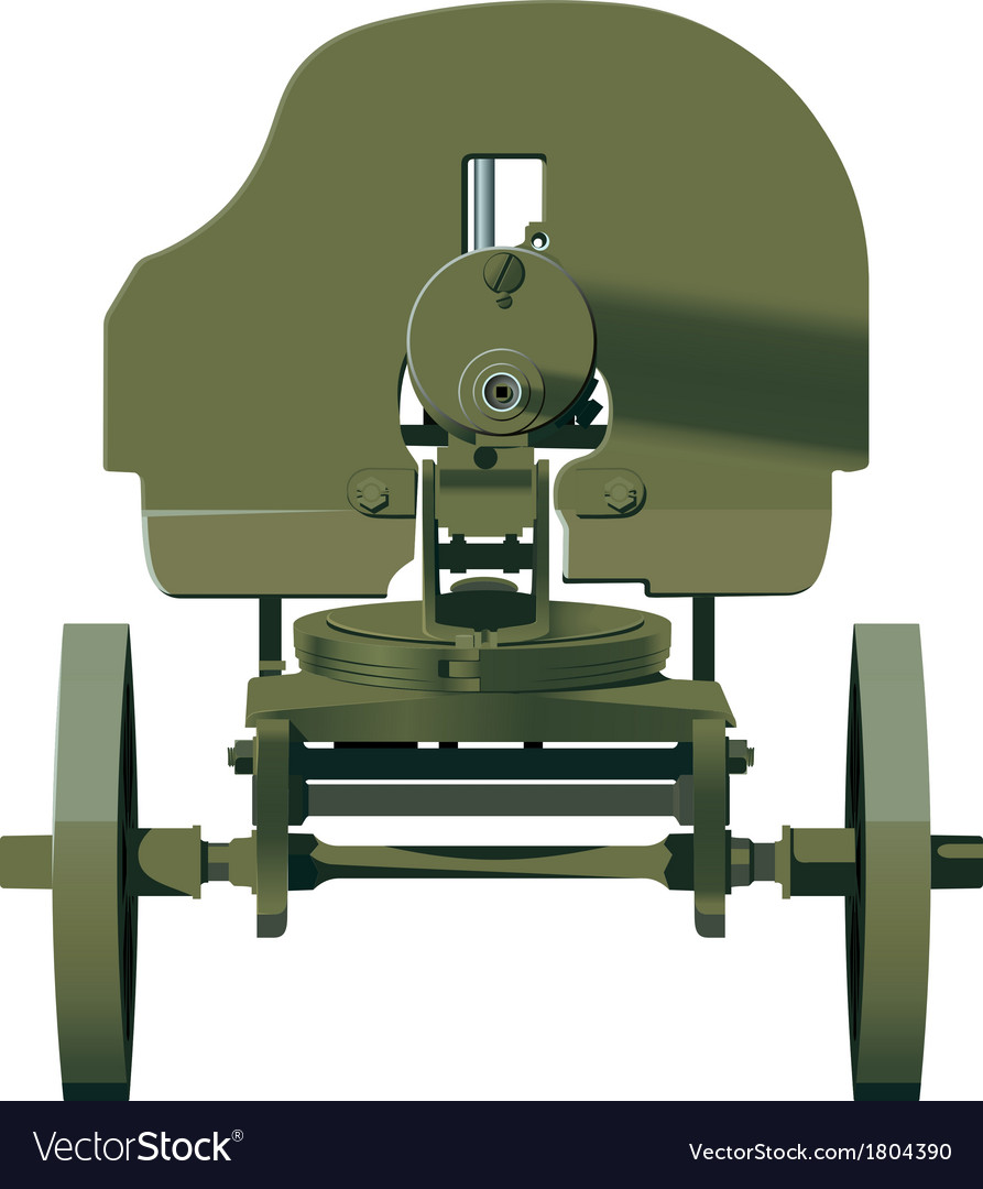Maxim machine gun vector | Price: 1 Credit (USD $1)