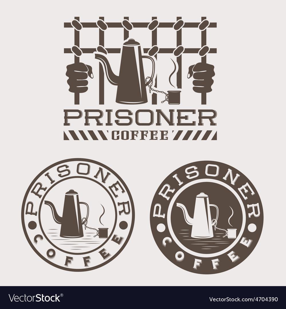 Prisoner coffee concept design template vector | Price: 1 Credit (USD $1)
