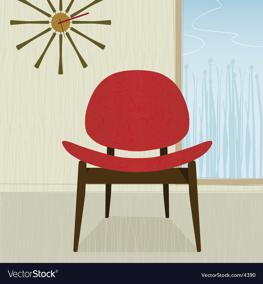 Retro chair vector | Price: 1 Credit (USD $1)