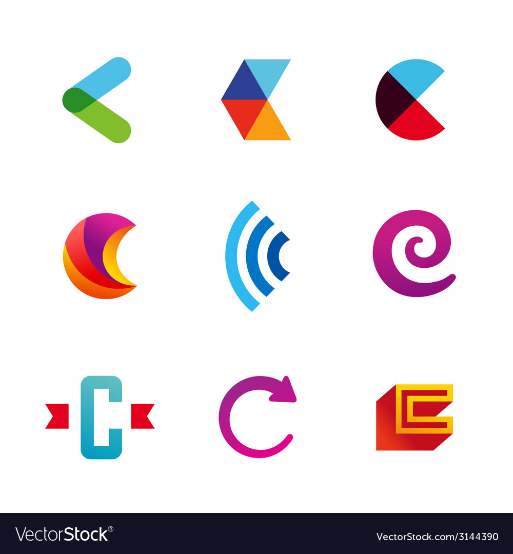 Set of letter c logo icons design template vector | Price: 1 Credit (USD $1)