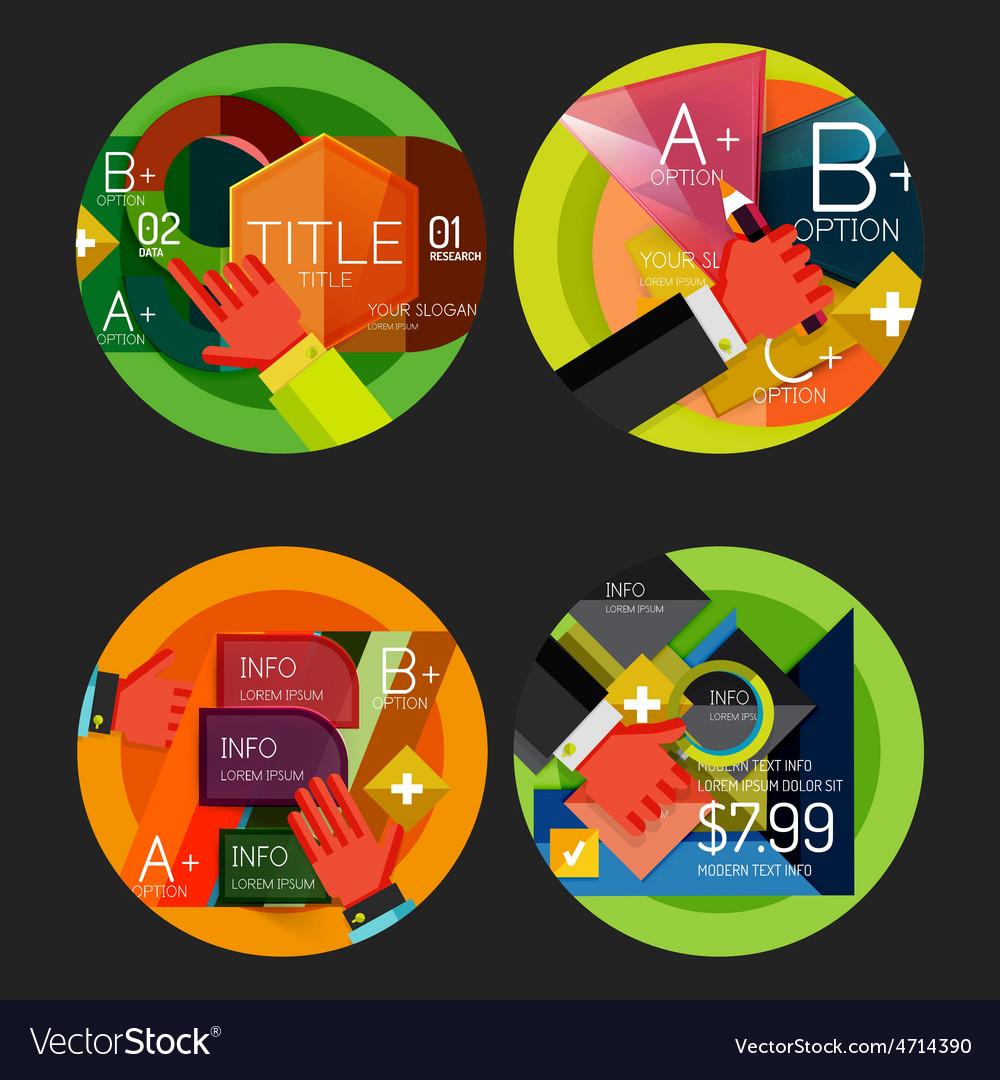 Set of option presentation labels flat design web vector   Price: 1 Credit (USD $1)