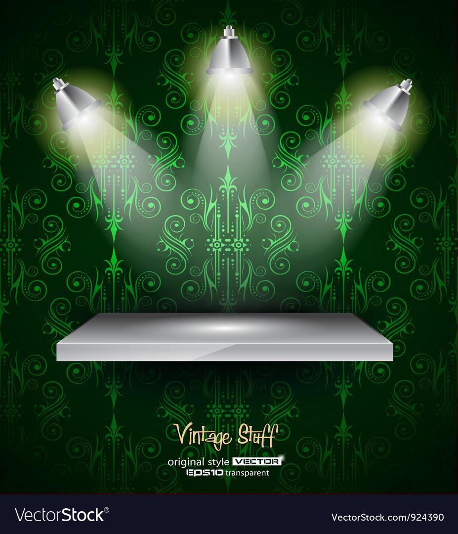 Shelf with spotlights vector | Price: 1 Credit (USD $1)