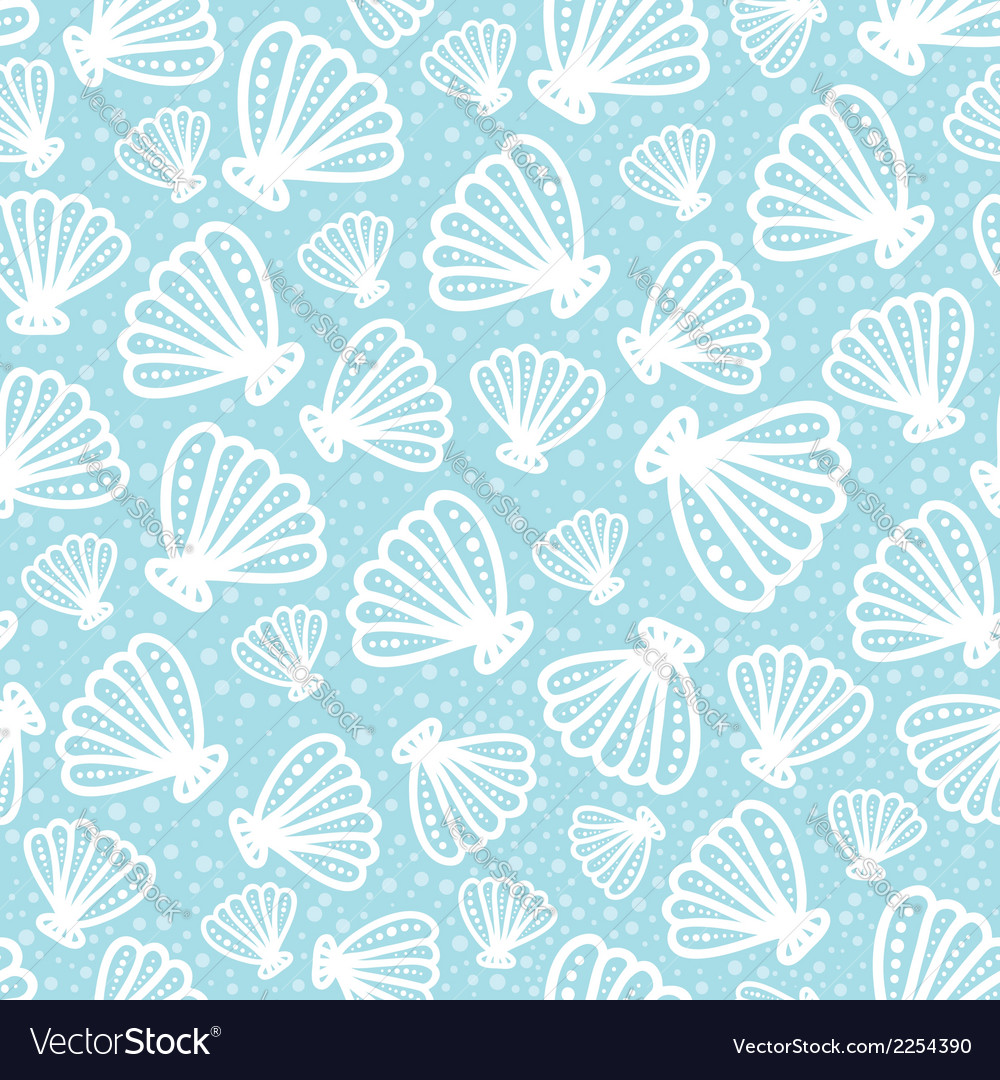 Shell seamless pattern on spotted background vector | Price: 1 Credit (USD $1)