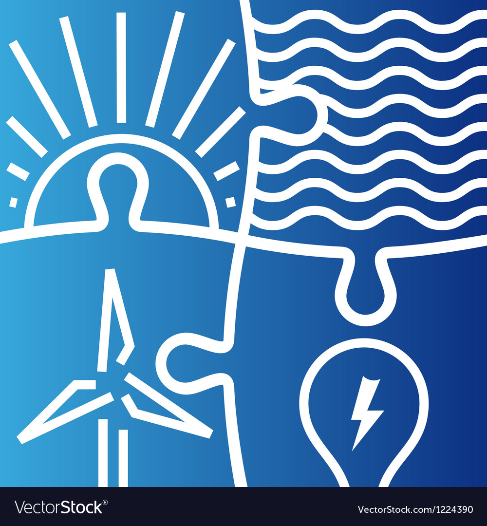 Sign of various ways to produce energy vector   Price: 1 Credit (USD $1)
