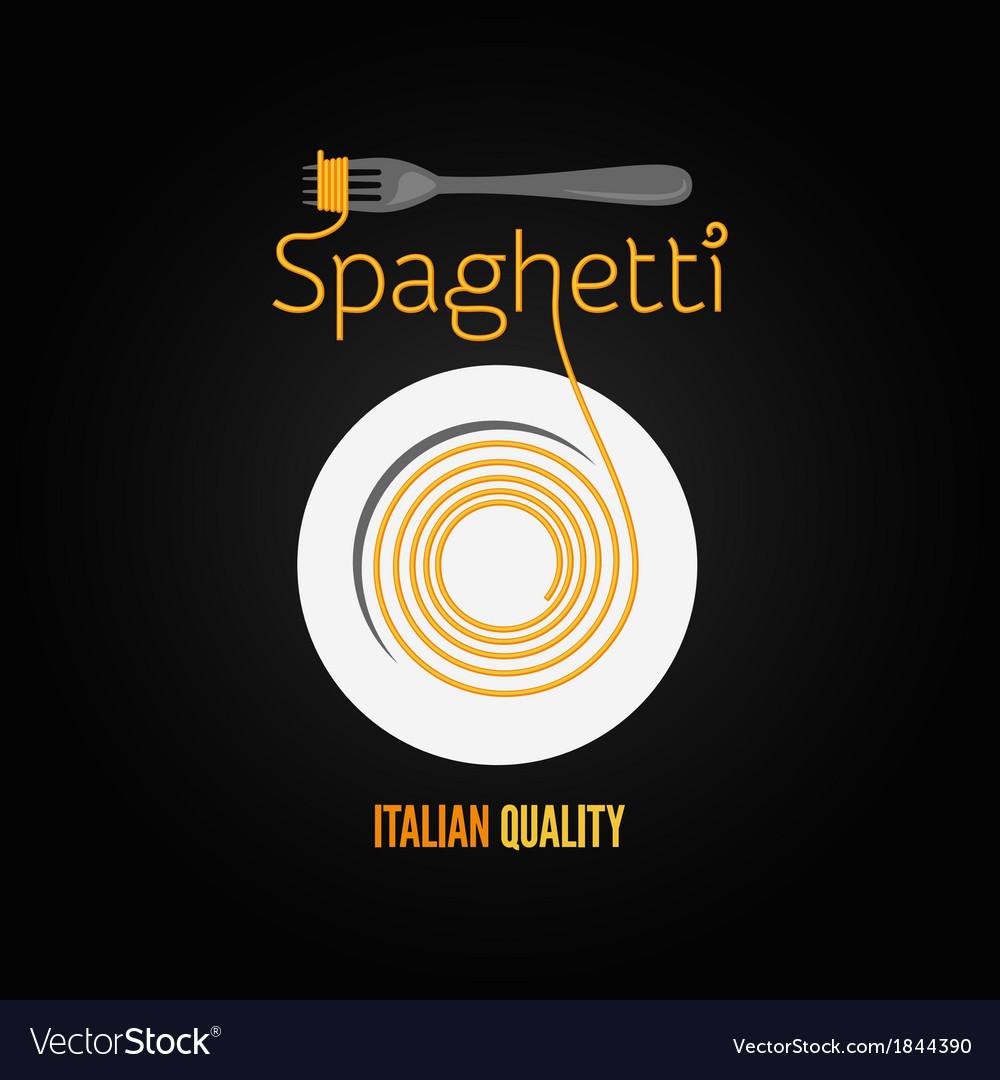 Spaghetti pasta plate fork menu background vector   Price: 1 Credit (USD $1)