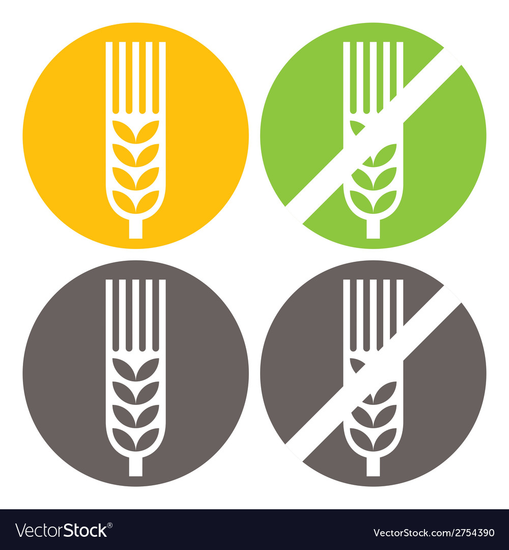 Wheat and gluten free signs vector | Price: 1 Credit (USD $1)