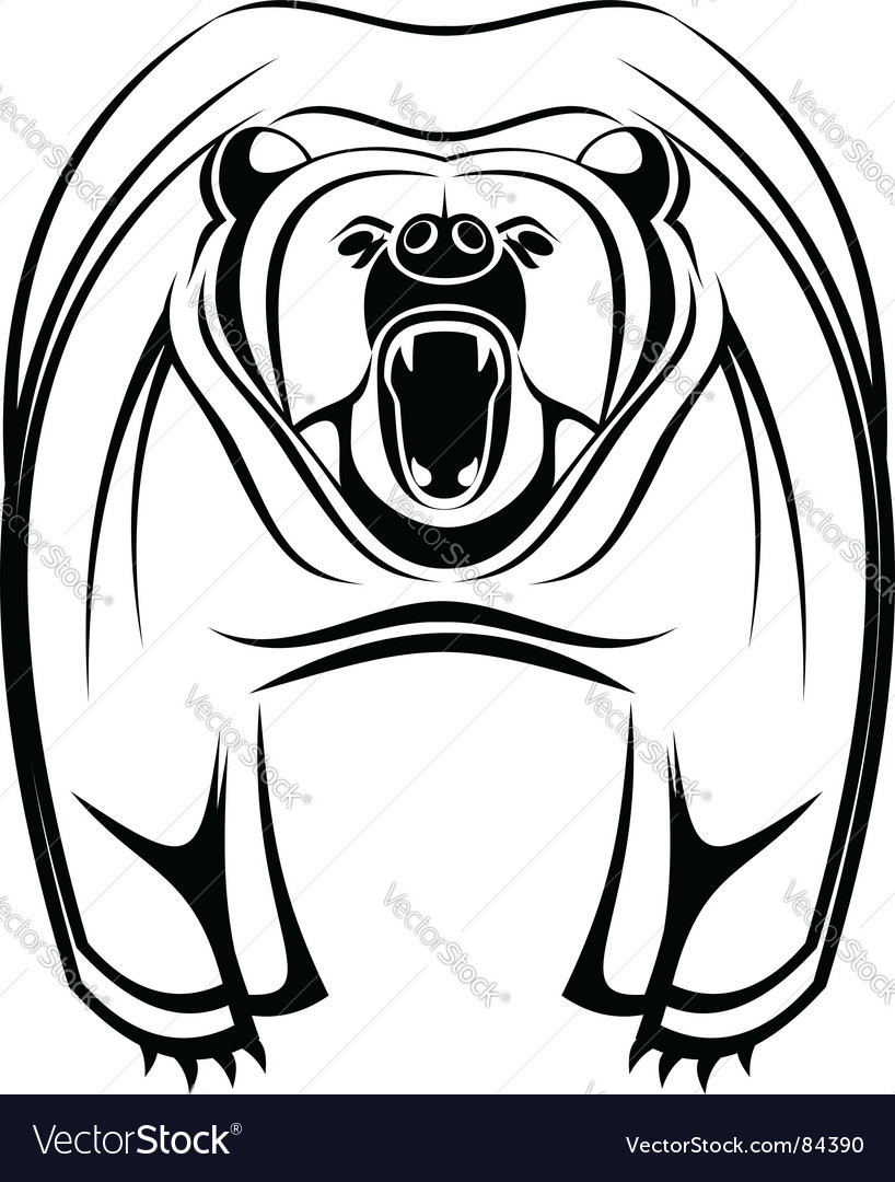 Wild bear vector | Price: 1 Credit (USD $1)
