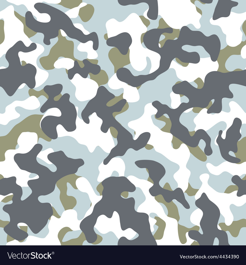 Winter camouflage seamless pattern vector | Price: 1 Credit (USD $1)