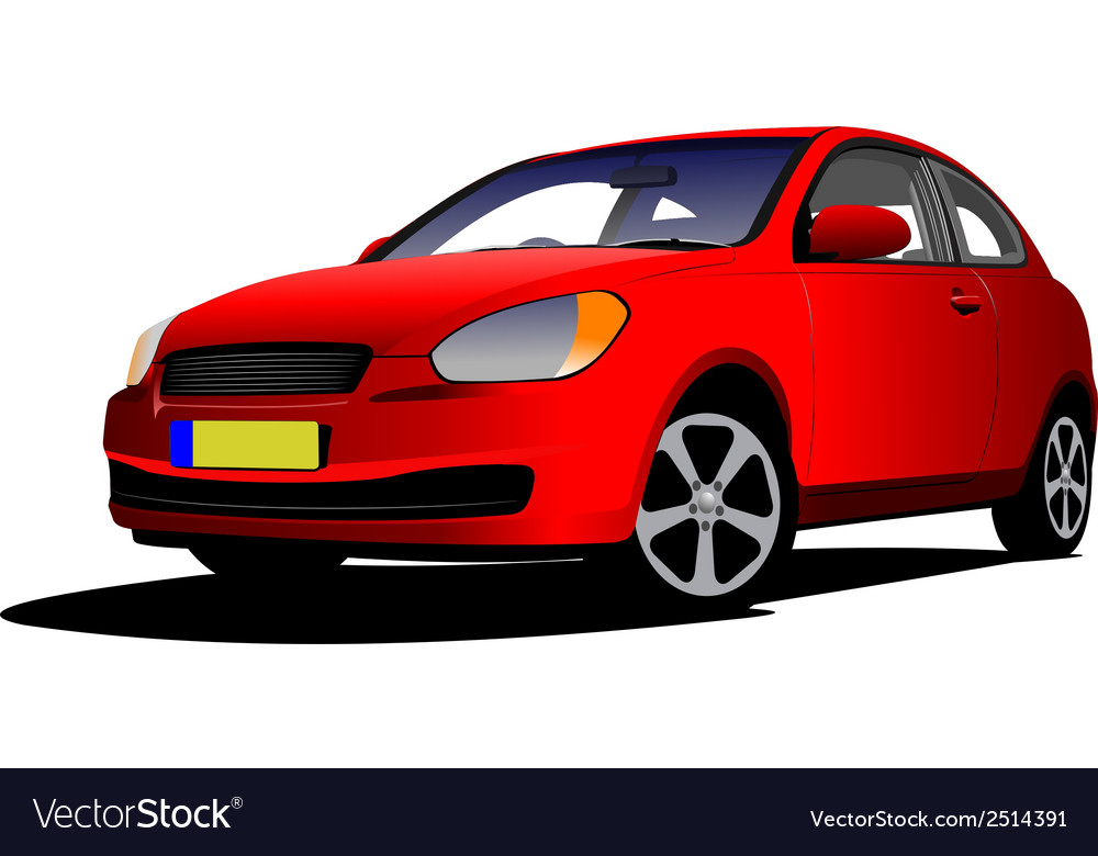 Al 0210 red car vector | Price: 1 Credit (USD $1)