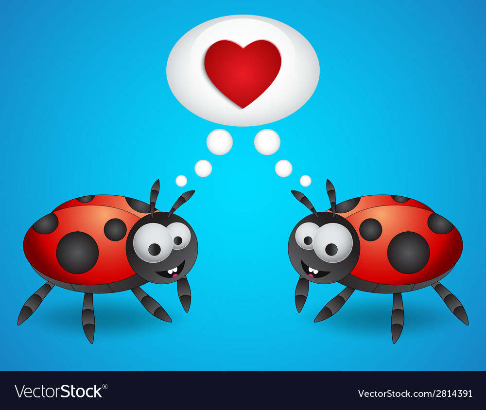 Cartoon ladybugs vector | Price: 1 Credit (USD $1)