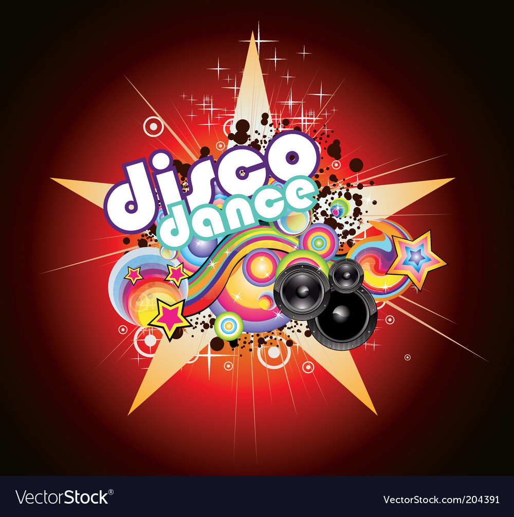 Disco music background vector | Price: 3 Credit (USD $3)
