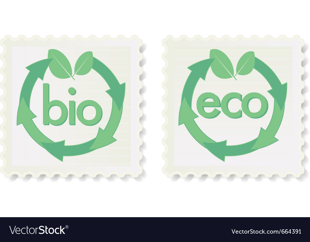 Green eco and bio icons vector | Price: 1 Credit (USD $1)