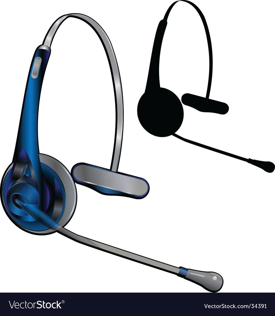 Headset vector | Price: 1 Credit (USD $1)
