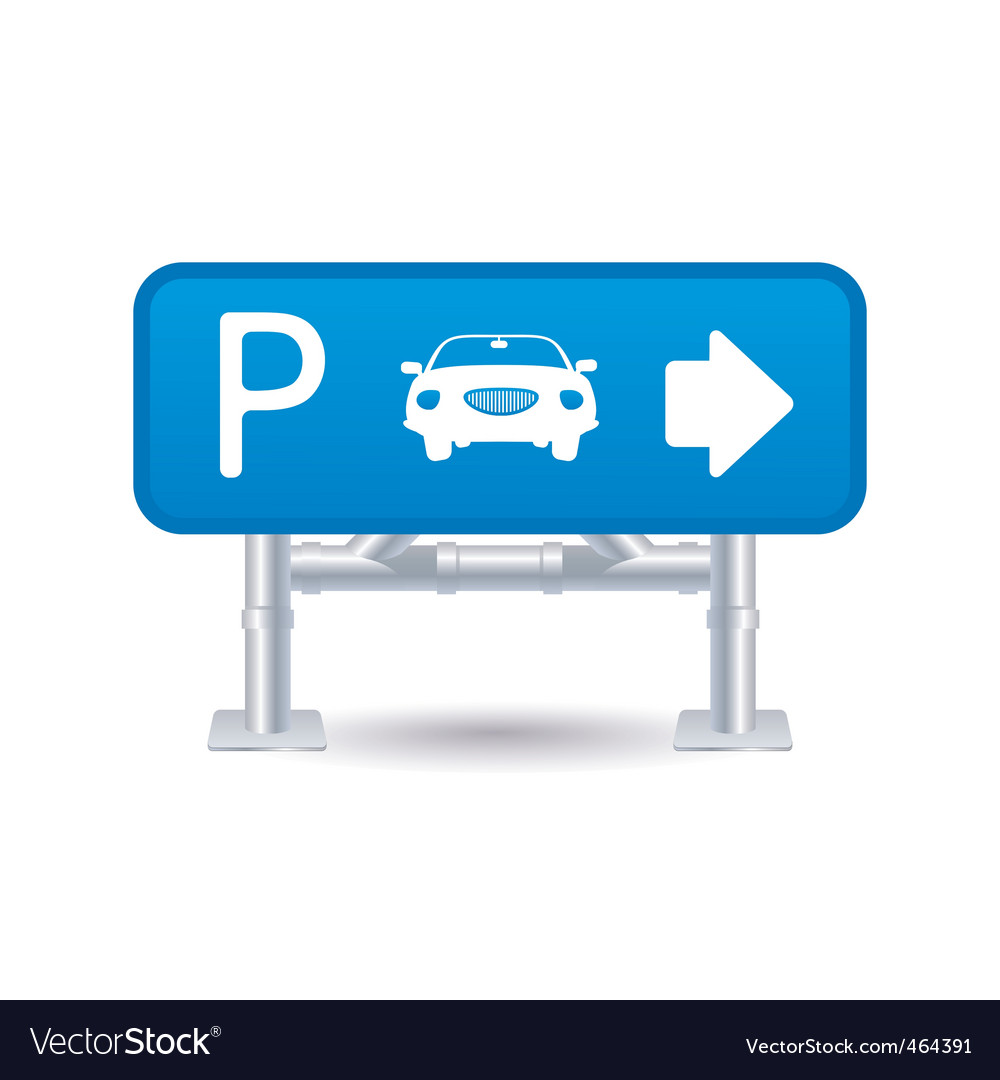Parking sign icon vector | Price: 1 Credit (USD $1)