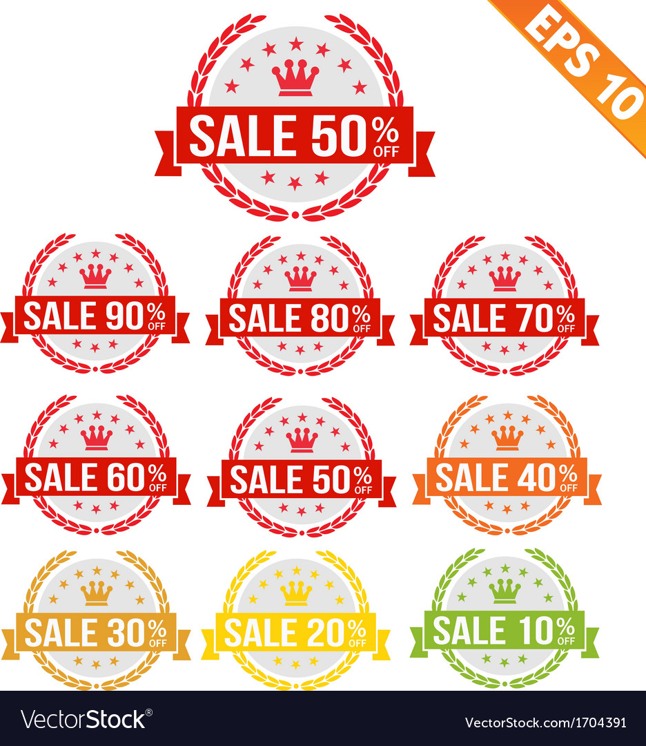 Sale discount tag - - eps10 vector | Price: 1 Credit (USD $1)