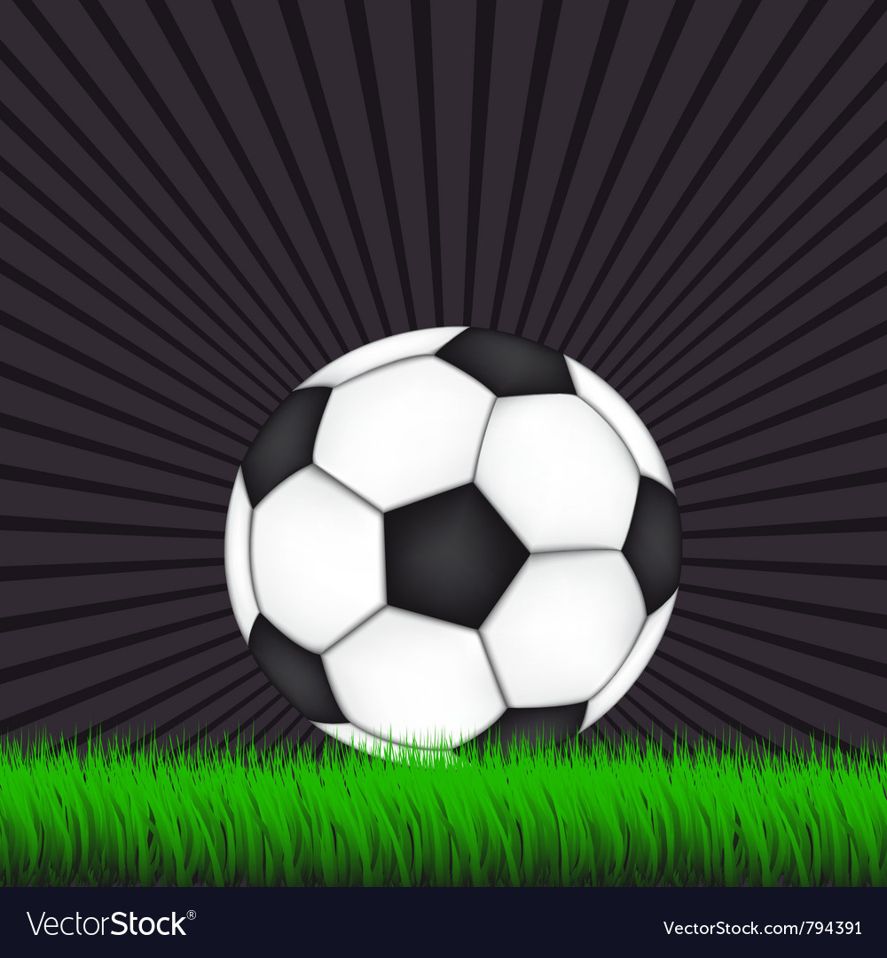 Soccer background with ball vector | Price: 1 Credit (USD $1)