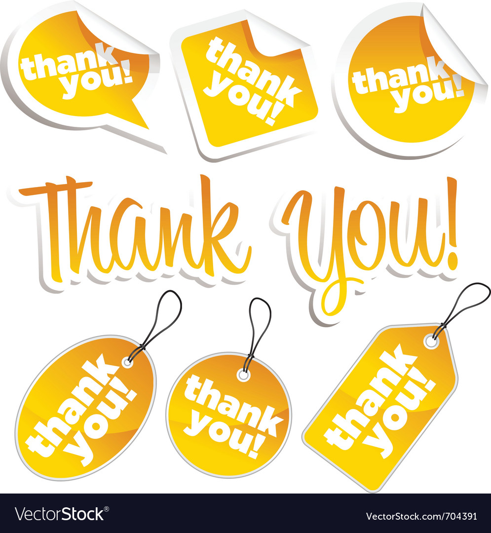 Thank you stickers and tags vector | Price: 1 Credit (USD $1)