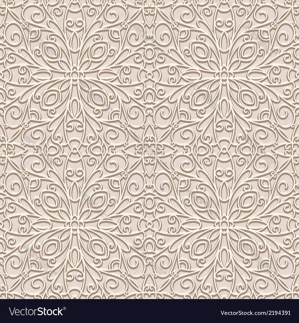 Vintage beige pattern vector | Price: 1 Credit (USD $1)