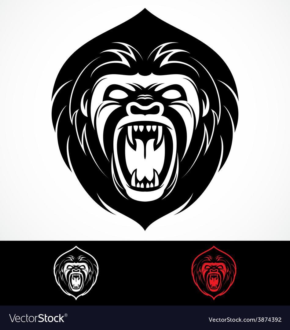 Angry gorilla head mascot vector | Price: 1 Credit (USD $1)