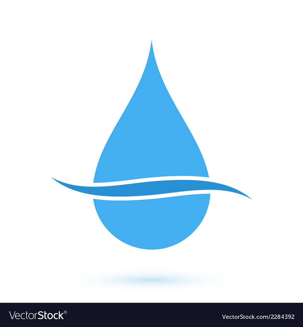 Blue drop symbol vector | Price: 1 Credit (USD $1)