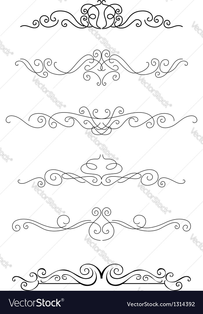 Borders and dividers vector | Price: 1 Credit (USD $1)