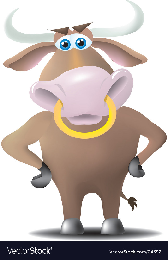 Cartoon bull vector | Price:  Credit (USD $)
