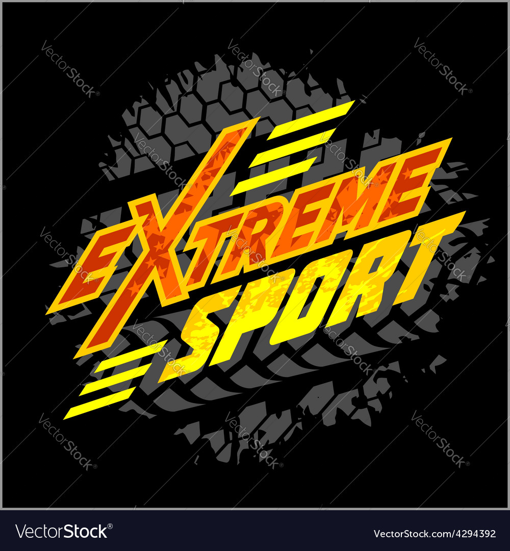 Extreme sport - moto emblem vector | Price: 3 Credit (USD $3)