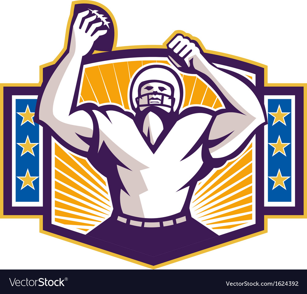 Gridiron football player touchdown vector | Price: 1 Credit (USD $1)