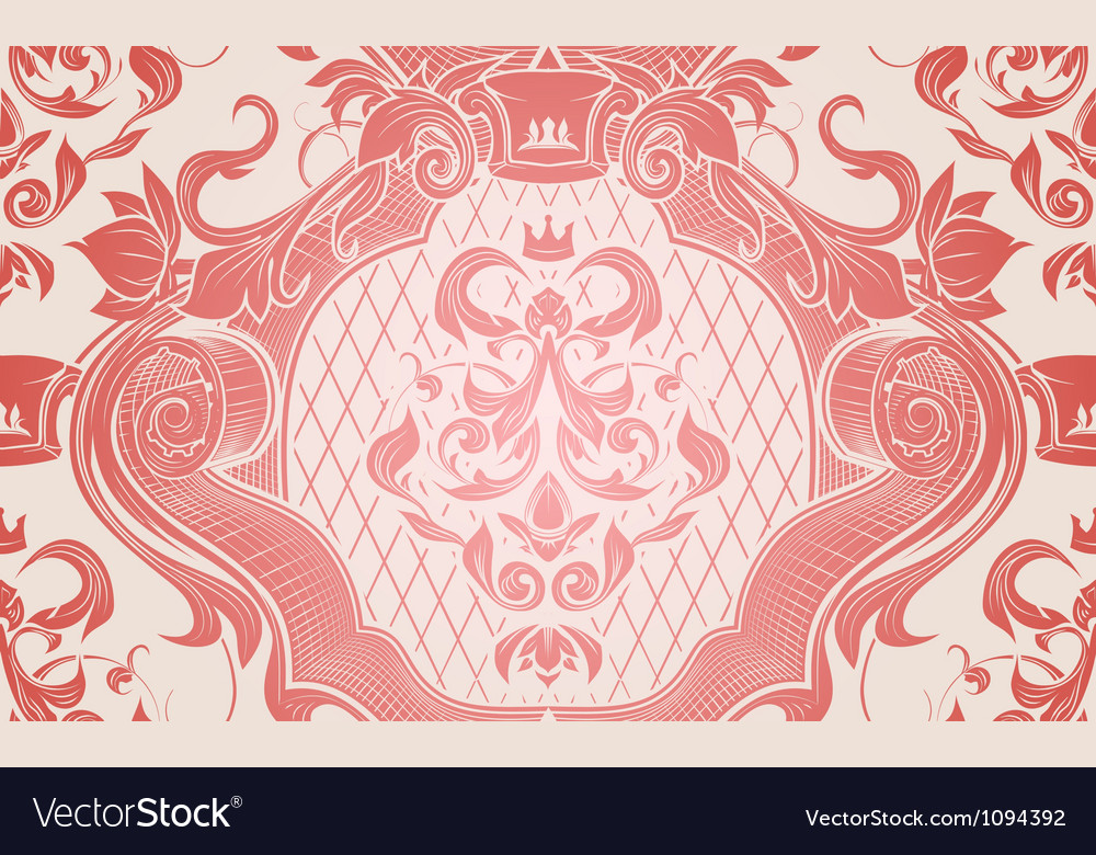 Red seamless wallpaper pattern vector | Price: 1 Credit (USD $1)