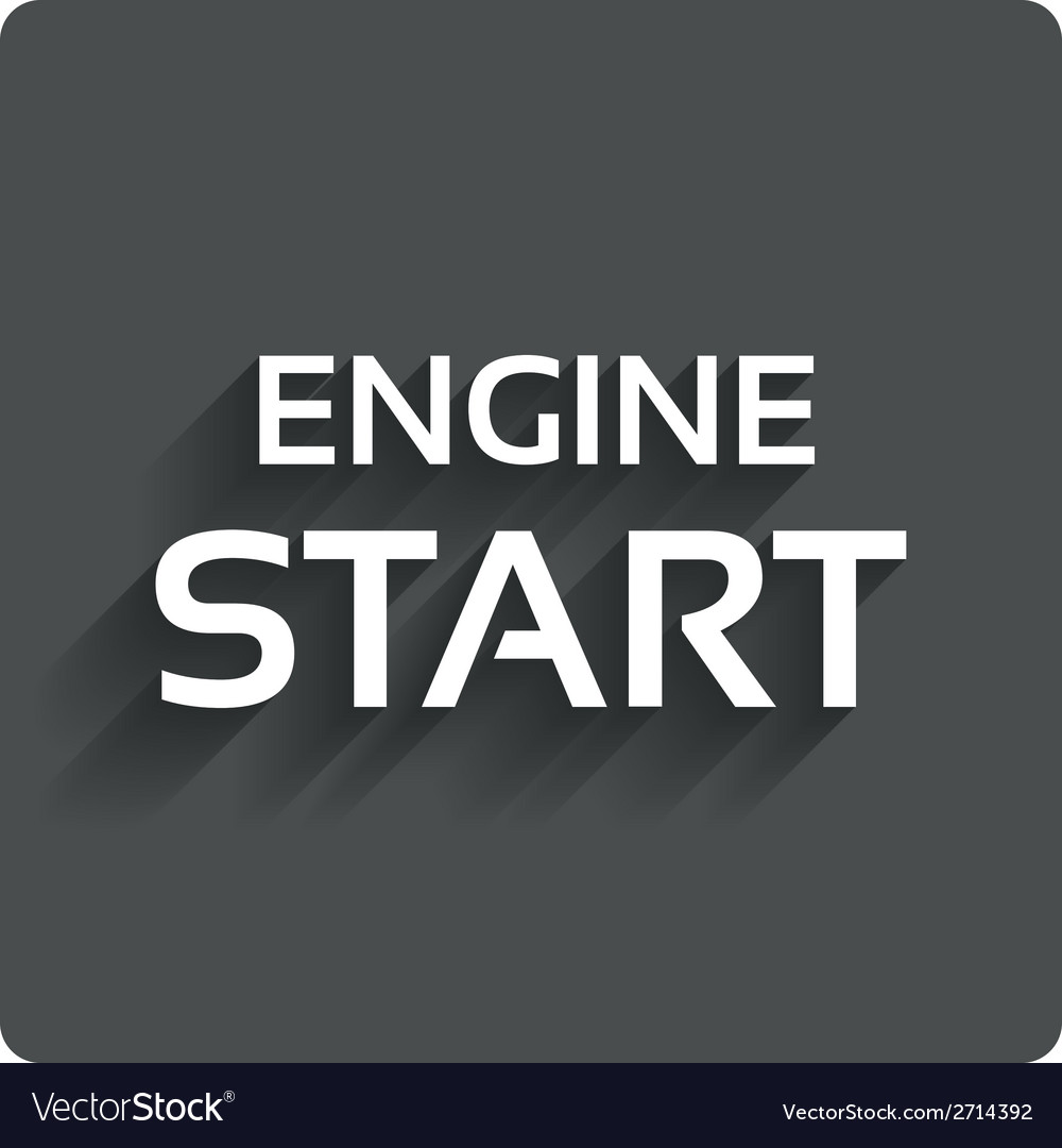 Start engine sign icon power button vector | Price: 1 Credit (USD $1)