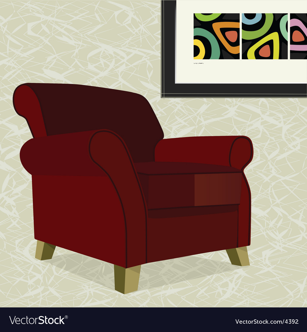 Velvet armchair vector | Price: 3 Credit (USD $3)