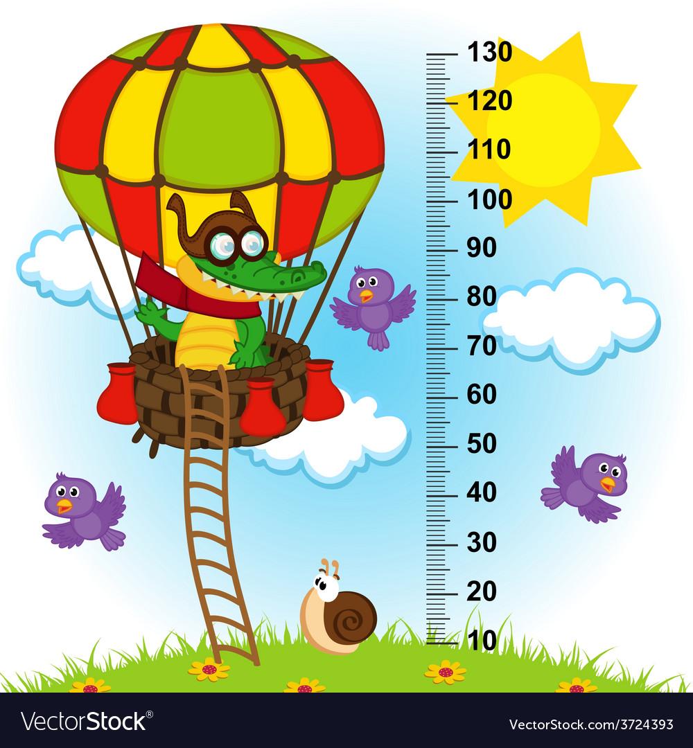 Balloon height measure vector | Price: 3 Credit (USD $3)