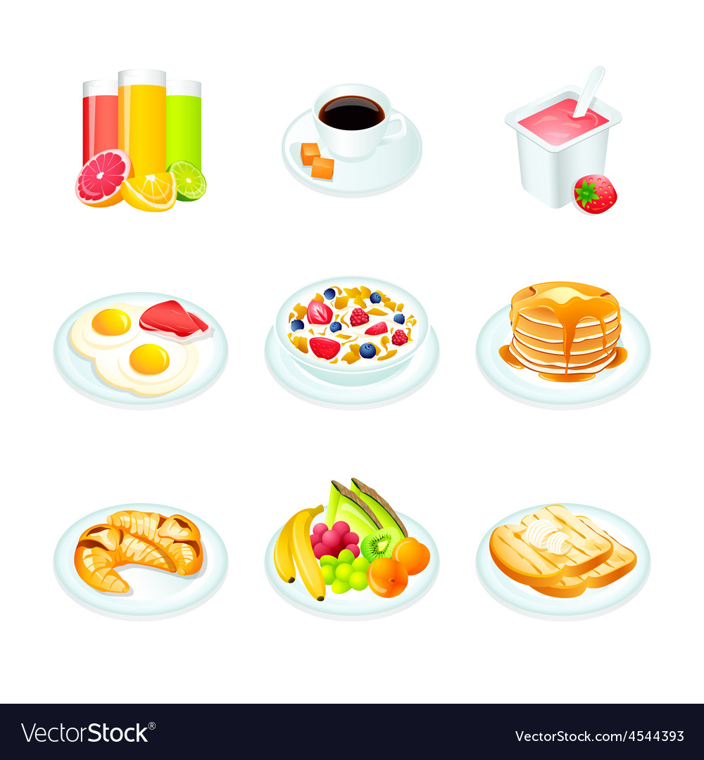 Breakfast icons vector | Price: 3 Credit (USD $3)