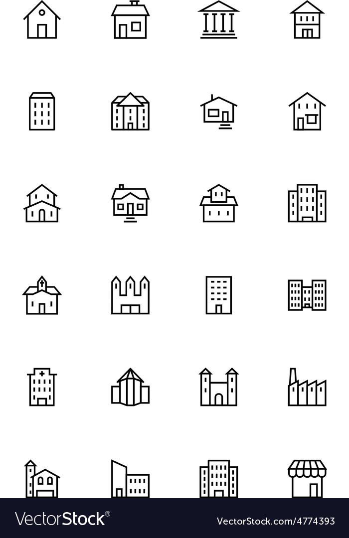Buildings and furniture 1 vector | Price: 1 Credit (USD $1)