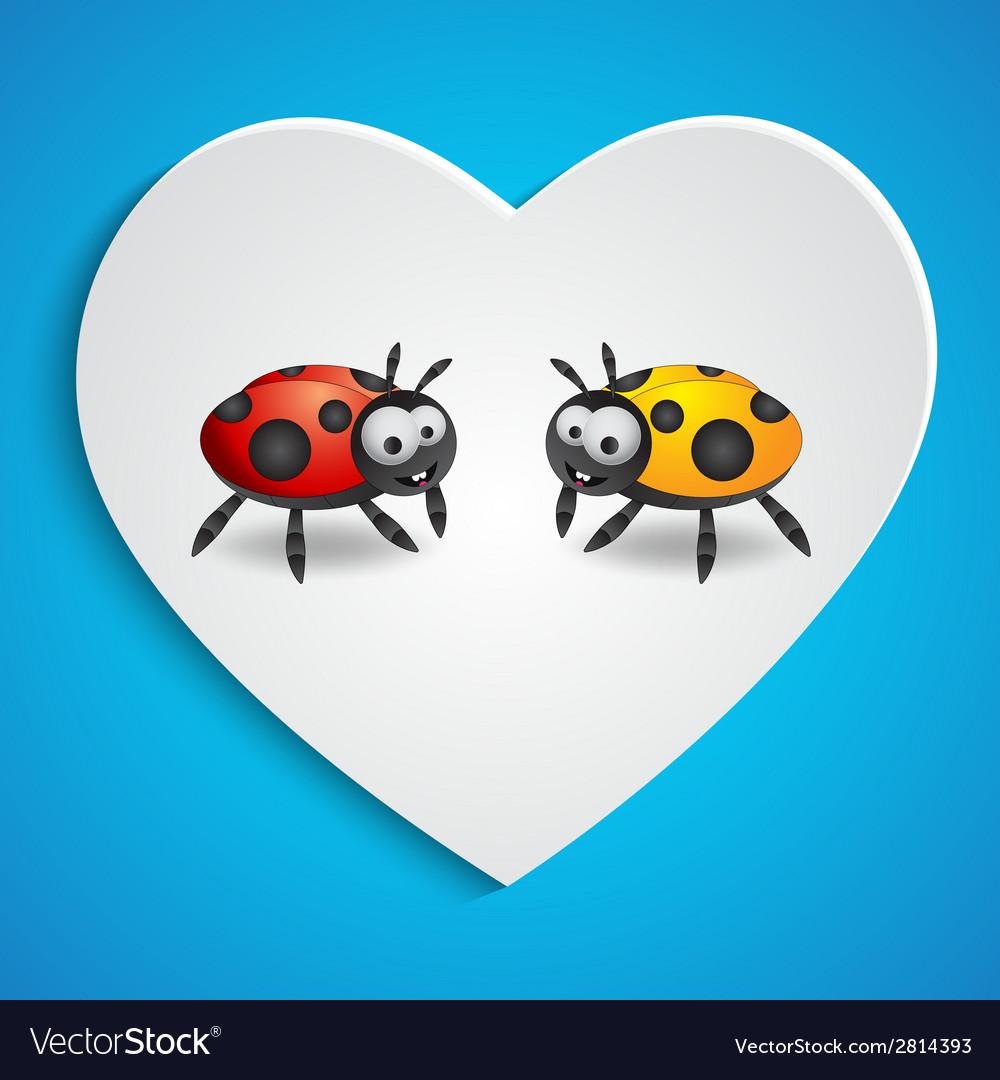 Cartoon ladybugs vector | Price: 1 Credit (USD $1)