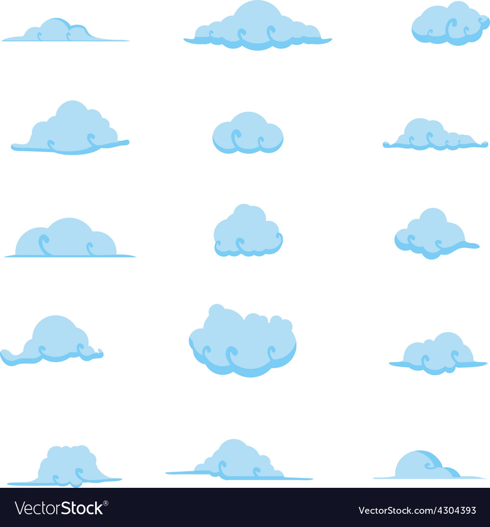 Cloud collection 7 vector   Price: 1 Credit (USD $1)